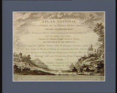 Atlas national et general de la France en 20 cartes [estampe]