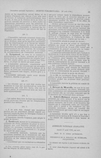 Tome 49 : Du 26 août au 15 septembre 1792 - page 35