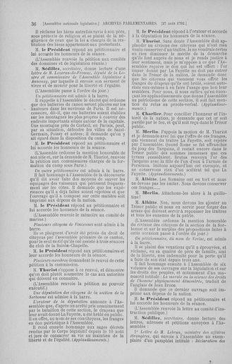 Tome 49 : Du 26 août au 15 septembre 1792 - page 36