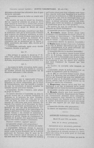 Tome 49 : Du 26 août au 15 septembre 1792 - page 51