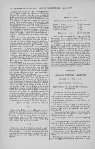 Tome 49 : Du 26 août au 15 septembre 1792 - page 70
