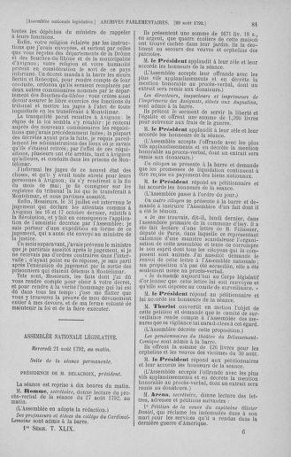 Tome 49 : Du 26 août au 15 septembre 1792 - page 81