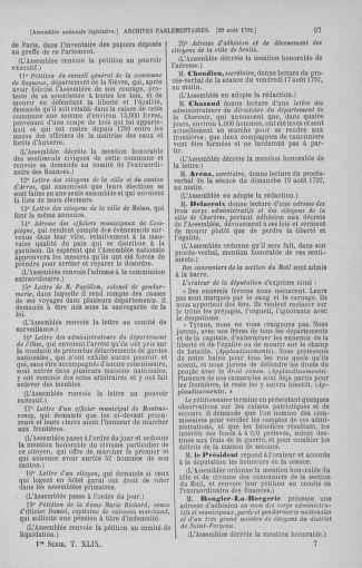 Tome 49 : Du 26 août au 15 septembre 1792 - page 97