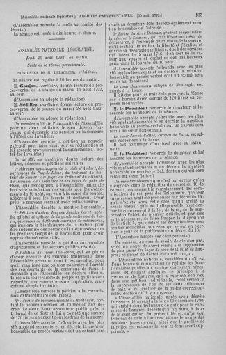 Tome 49 : Du 26 août au 15 septembre 1792 - page 105