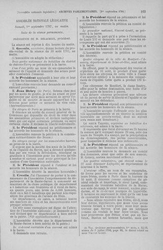 Tome 49 : Du 26 août au 15 septembre 1792 - page 163