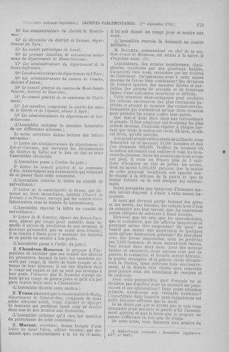 Tome 49 : Du 26 août au 15 septembre 1792 - page 179