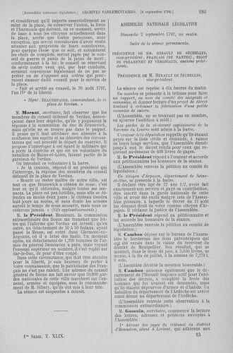 Tome 49 : Du 26 août au 15 septembre 1792 - page 193