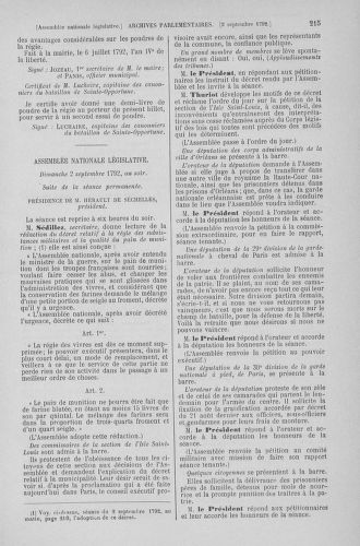 Tome 49 : Du 26 août au 15 septembre 1792 - page 215