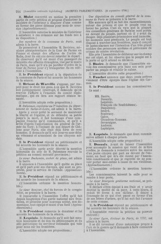 Tome 49 : Du 26 août au 15 septembre 1792 - page 216