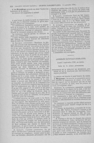 Tome 49 : Du 26 août au 15 septembre 1792 - page 230