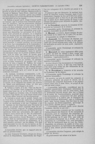 Tome 49 : Du 26 août au 15 septembre 1792 - page 231