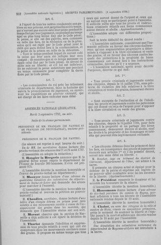 Tome 49 : Du 26 août au 15 septembre 1792 - page 252