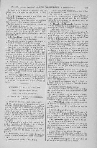 Tome 49 : Du 26 août au 15 septembre 1792 - page 341