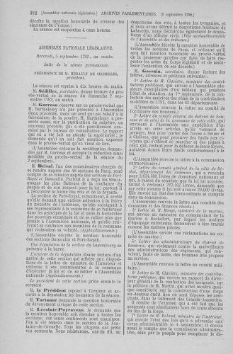 Tome 49 : Du 26 août au 15 septembre 1792 - page 352