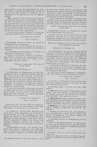 Tome 49 : Du 26 août au 15 septembre 1792 - page 383