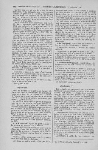 Tome 49 : Du 26 août au 15 septembre 1792 - page 412
