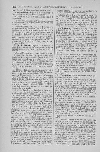 Tome 49 : Du 26 août au 15 septembre 1792 - page 422