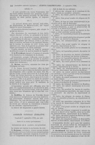 Tome 49 : Du 26 août au 15 septembre 1792 - page 442