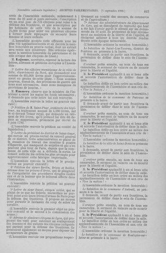 Tome 49 : Du 26 août au 15 septembre 1792 - page 443