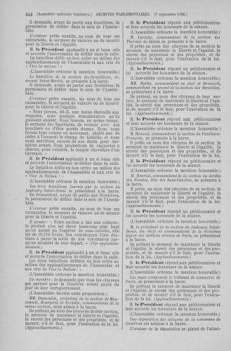 Tome 49 : Du 26 août au 15 septembre 1792 - page 444