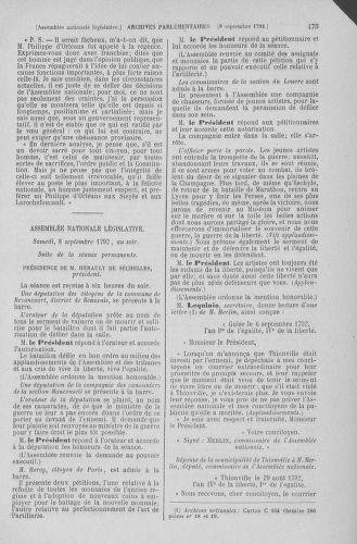 Tome 49 : Du 26 août au 15 septembre 1792 - page 475