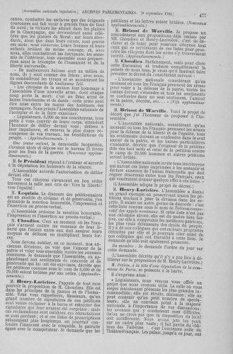 Tome 49 : Du 26 août au 15 septembre 1792 - page 477