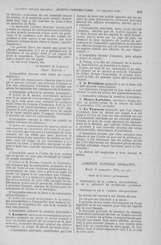 Tome 49 : Du 26 août au 15 septembre 1792 - page 563