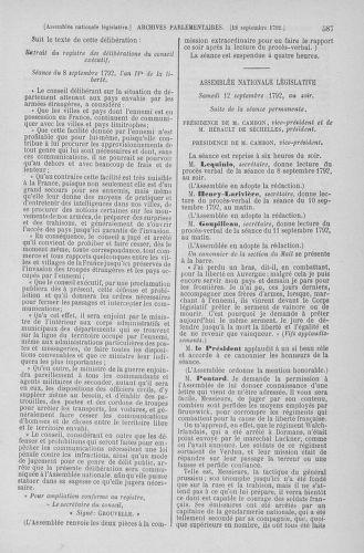 Tome 49 : Du 26 août au 15 septembre 1792 - page 587