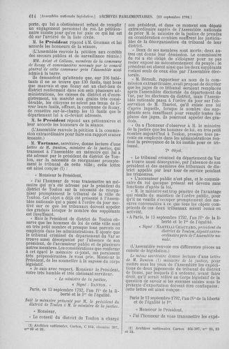 Tome 49 : Du 26 août au 15 septembre 1792 - page 614