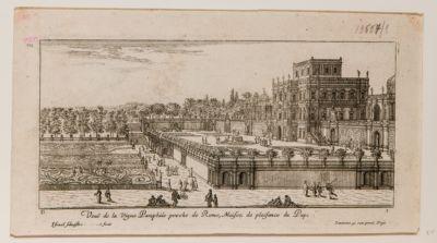 Veduta del Palazzo della Vigna Pamphili presso Roma