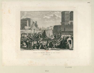 Bateau de poudre arrêté au port Saint Paul le 6 aoust 1789 : [estampe]