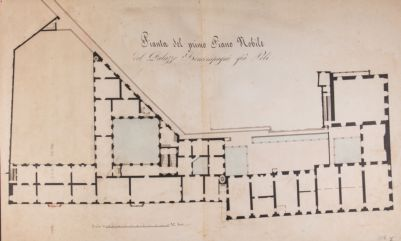 Palazzo Poli a piazza Trevi, pianta del piano nobile