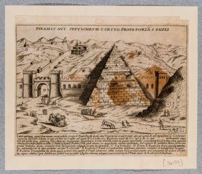 Piramide di Caio Cestio, veduta generale dall'esterno delle mura