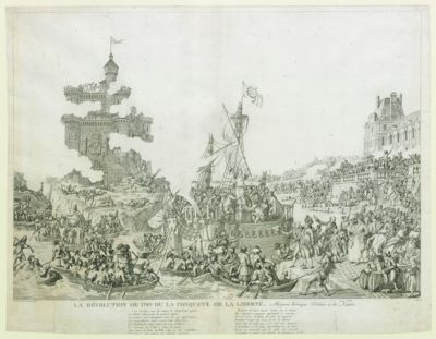 La  Révolution de 1789 ou la conquete de la liberté Allégorie heroïque Dédiée à la Nation : [estampe]