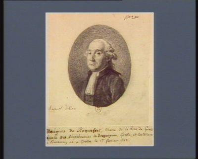 Mougins de Roquefort maire de la ville de Grasse député des sénéchaussées de Draguignan, Grasse et Castellane en Provence, né à Grasse le 1.er février 1742 : [dessin]