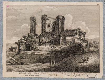 Trofei di Mario, resti del castello dell'Acqua Julia