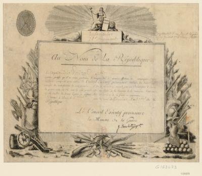 Au nom de la République le citoyen... : [estampe]