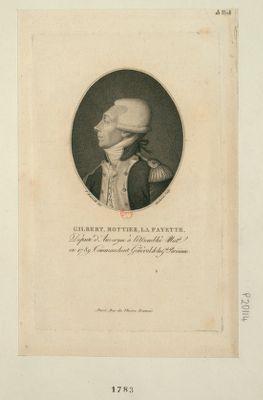 Gilbert, Mottier, La Fayette député d'Auvergne à l'Assemblée nat.le en 1789, commandant général de la G.de parisienne : [estampe]