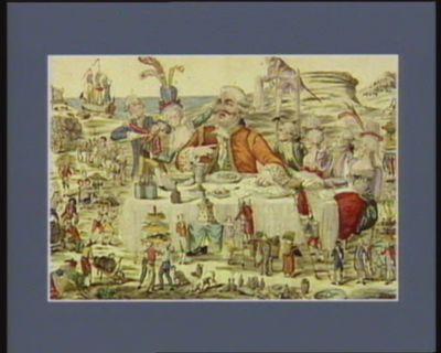 Le  Cidevant grand couvert de Gargantua moderne en famille [estampe]