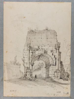 Arco di Druso da Porta San Sebastiano