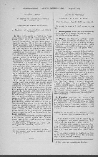 Tome 17 : Du 9 juillet au 12 août 1790 - page 34