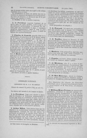 Tome 17 : Du 9 juillet au 12 août 1790 - page 40