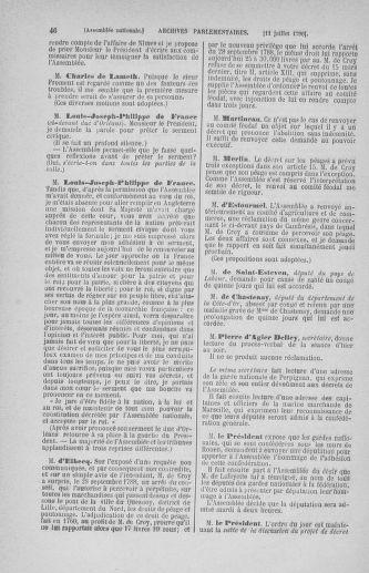 Tome 17 : Du 9 juillet au 12 août 1790 - page 46