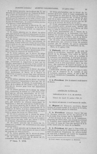 Tome 17 : Du 9 juillet au 12 août 1790 - page 49