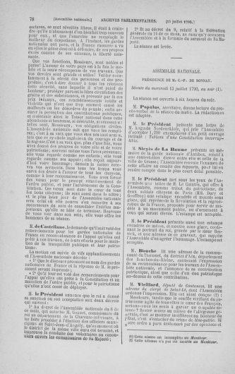 Tome 17 : Du 9 juillet au 12 août 1790 - page 78