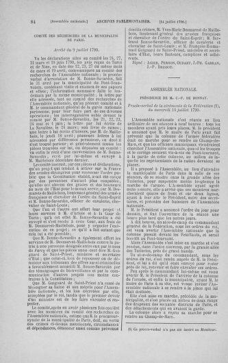 Tome 17 : Du 9 juillet au 12 août 1790 - page 84