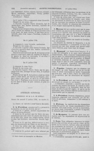 Tome 17 : Du 9 juillet au 12 août 1790 - page 164