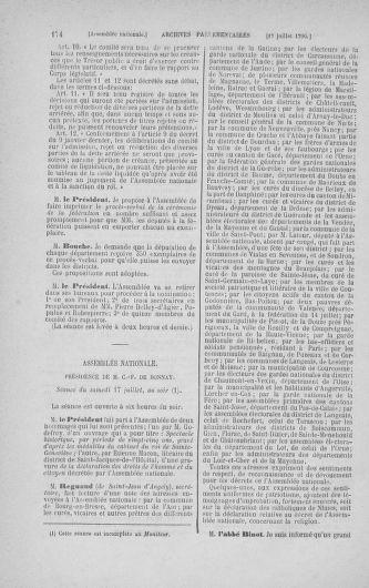 Tome 17 : Du 9 juillet au 12 août 1790 - page 174