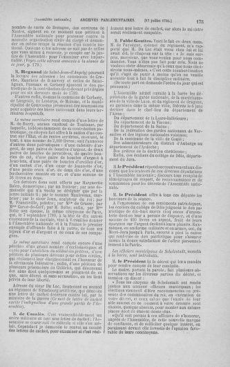 Tome 17 : Du 9 juillet au 12 août 1790 - page 175
