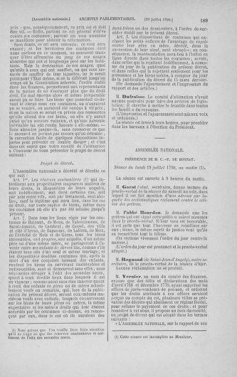 Tome 17 : Du 9 juillet au 12 août 1790 - page 189